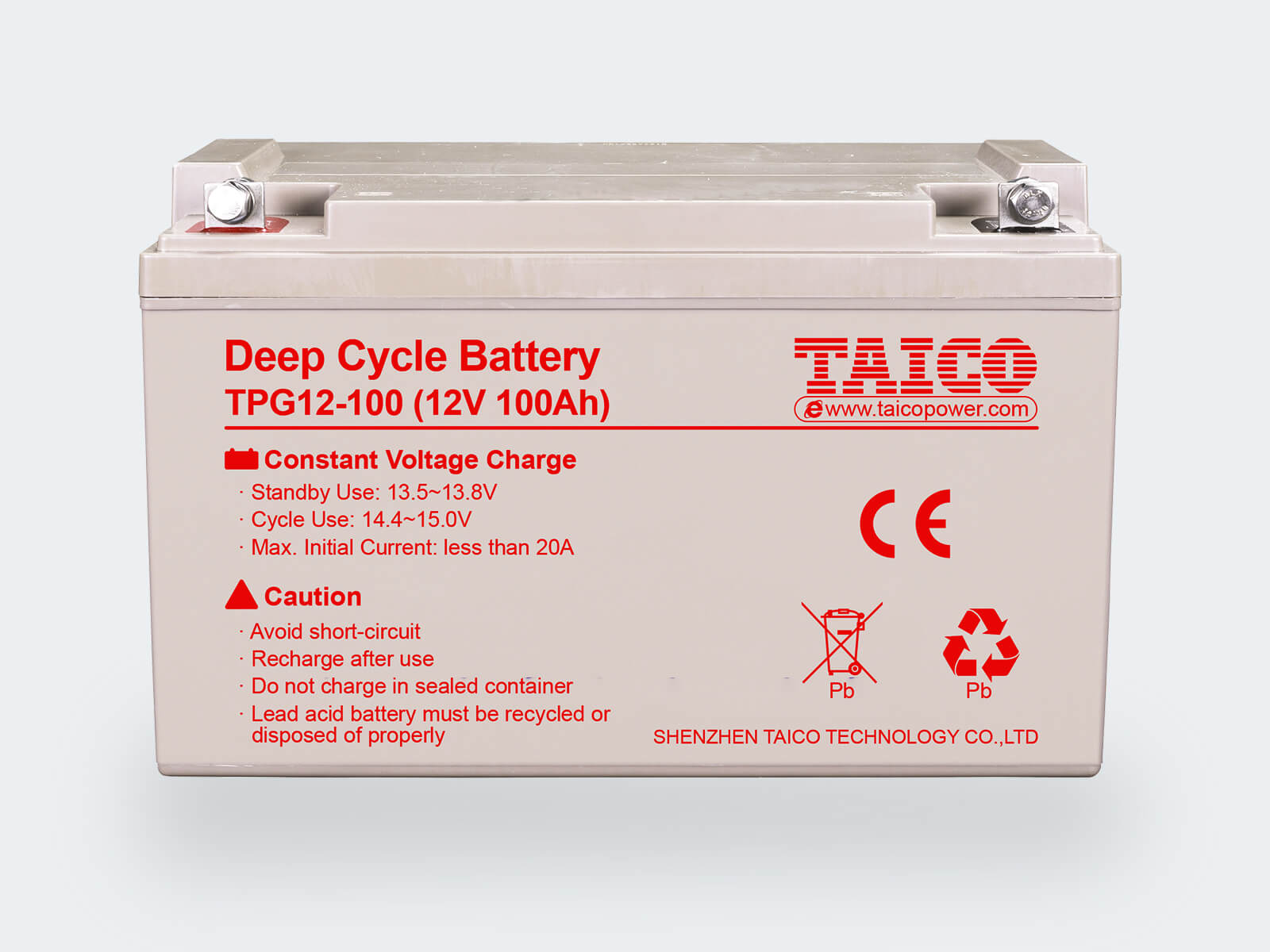 TAICO 12V Deep Cycle Lead Acid Battery