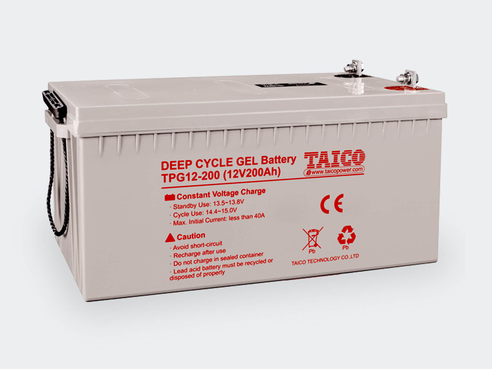 TAICO 12V Gel Lead Acid Battery