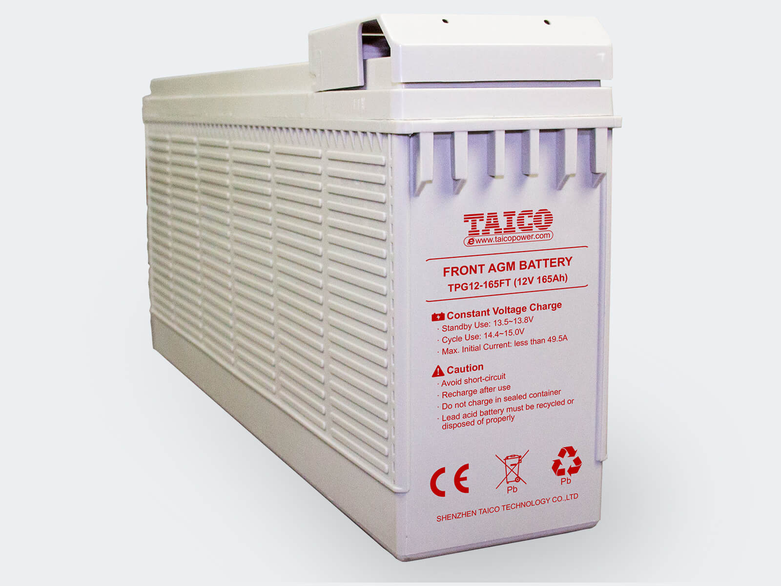 TAICO Front Terminal Agm Battery