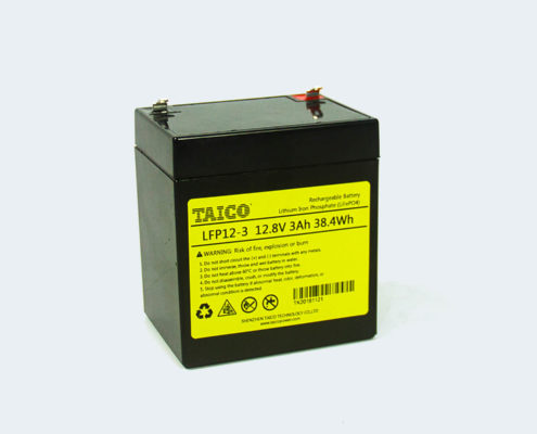 TAICO LFP12-3 12.8V 3Ah LiFePO4 Battery